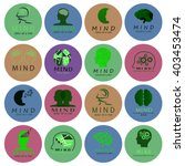 mind icons set   isolated on... | Shutterstock .eps vector #403453474