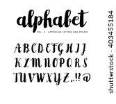 hand drawn vector alphabet....   Shutterstock .eps vector #403455184