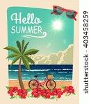 hello summer. vector summer... | Shutterstock .eps vector #403458259
