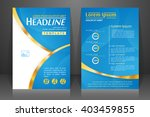abstract vector modern flyers... | Shutterstock .eps vector #403459855