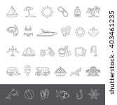 line icons   summer | Shutterstock .eps vector #403461235