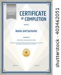 portrait certificate of... | Shutterstock .eps vector #403462051