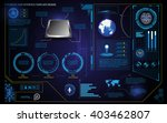 futuristic hud interface... | Shutterstock .eps vector #403462807