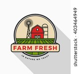 fresh farm logo template design.... | Shutterstock .eps vector #403464949