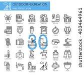 outdoor recreation   thin line... | Shutterstock .eps vector #403464961