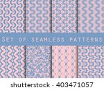 set of seamless patterns with... | Shutterstock .eps vector #403471057