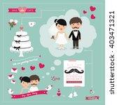 wedding day  | Shutterstock .eps vector #403471321