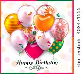 birthday card with colorful... | Shutterstock .eps vector #403471555
