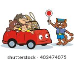 car and animals  vector funny...   Shutterstock .eps vector #403474075