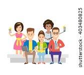sitting and standing people... | Shutterstock .eps vector #403480825