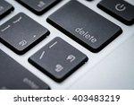delete key on keyboard close up | Shutterstock . vector #403483219