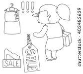 vector set of sale costume | Shutterstock .eps vector #403483639