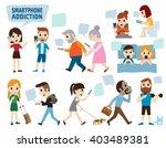 smartphone addiction. bad...   Shutterstock .eps vector #403489381