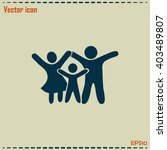 happy family icon in simple... | Shutterstock .eps vector #403489807
