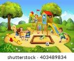 park  playground vector... | Shutterstock .eps vector #403489834