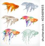 goldfish  different styles ... | Shutterstock .eps vector #403489855