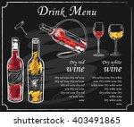 drink menu elements on... | Shutterstock .eps vector #403491865