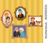 family portraits hanging on... | Shutterstock .eps vector #403500331