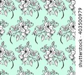 graphic seamless pattern rose... | Shutterstock . vector #403500979