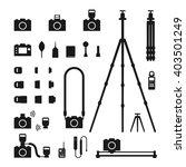 photographer tool silhouette...   Shutterstock .eps vector #403501249