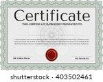 green diploma or certificate... | Shutterstock .eps vector #403502461