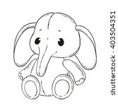 Cute Toy Elephant. Black...