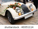 Vintage Wedding Car Decorated...
