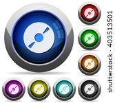 set of round glossy dvd disc...