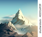 mountain illustration | Shutterstock .eps vector #403516939