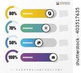 chart template in modern style. ... | Shutterstock .eps vector #403517635