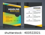 abstract vector modern flyers... | Shutterstock .eps vector #403522021