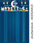 ramadan calendar schedule  ... | Shutterstock .eps vector #403524415