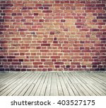 room interior with red brick... | Shutterstock . vector #403527175
