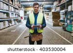 young handyman or builder... | Shutterstock . vector #403530004