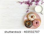 Breakfast Chocolate Donut And...