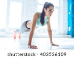 how long can you hold a plank ... | Shutterstock . vector #403536109