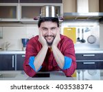 funny cooking. attractive... | Shutterstock . vector #403538374