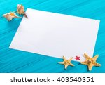 marine items and empty tag on... | Shutterstock . vector #403540351