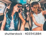 driving together. four... | Shutterstock . vector #403541884