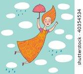 flying in the sky | Shutterstock . vector #40354534