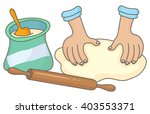 dough making | Shutterstock .eps vector #403553371