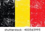 grunge styled flag of belgium | Shutterstock .eps vector #403565995