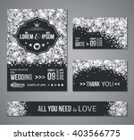 set of wedding invitation cards ... | Shutterstock .eps vector #403566775