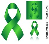 green ribbon vector | Shutterstock .eps vector #40356691