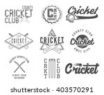 set of cricket team emblem and... | Shutterstock .eps vector #403570291