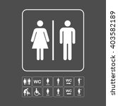 wc   toilet icons set. men and... | Shutterstock .eps vector #403582189