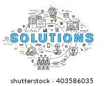 flat style  thin line art...   Shutterstock .eps vector #403586035