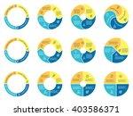 circular infographic. pie... | Shutterstock .eps vector #403586371
