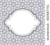 white lace with floral pattern... | Shutterstock .eps vector #403587751