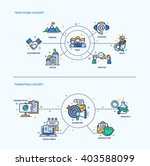 team work  marketing icons... | Shutterstock .eps vector #403588099